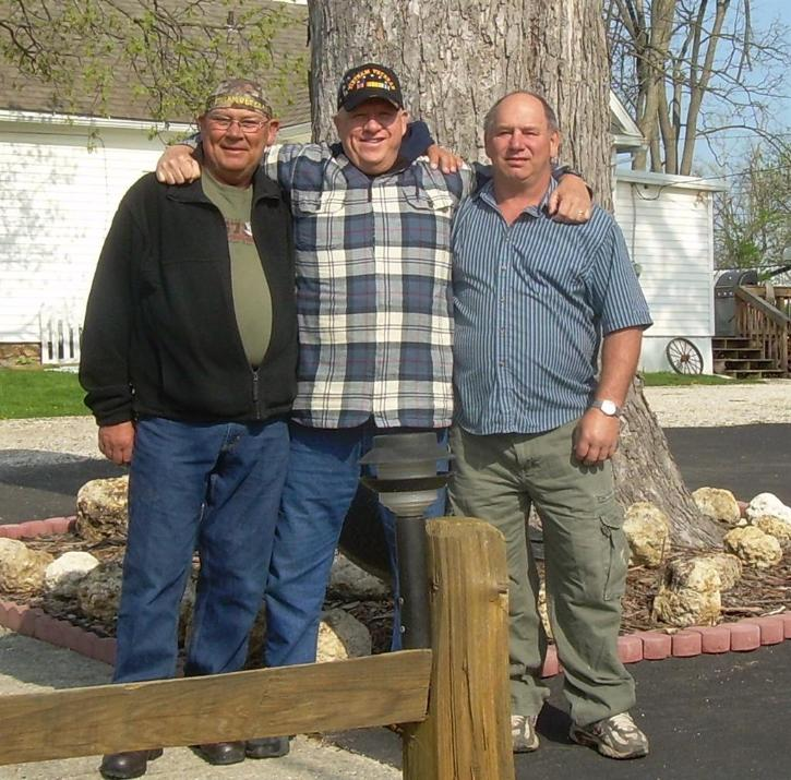 Ronald Hall - Van Woody - Donald Felion - Our Mini Reunion - May 2008 In Milton, Illinois - First Time The Three Of Us Were Together Again In 35 Years