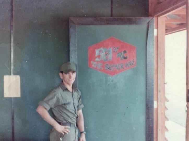 Here�s a Picture of me Sgt. Riggs at Honai Rail Head.