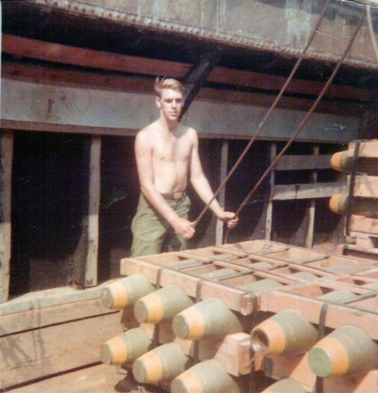 Stan Chisholm - Hooking Up A Pallet Of Bombs At The Binh Hoa Barge Site
