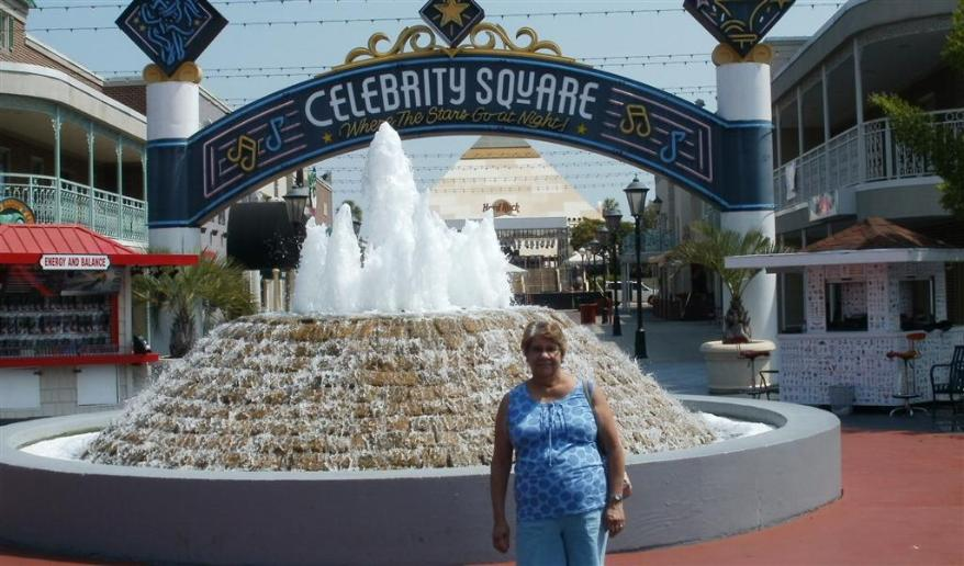 Vickie Reckers in Celebrity Square. - Photo courtesy of Tom & Vickie Reckers.
