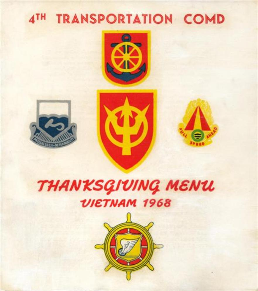 4th Trans Command Thanksgiving Menu And Insert
