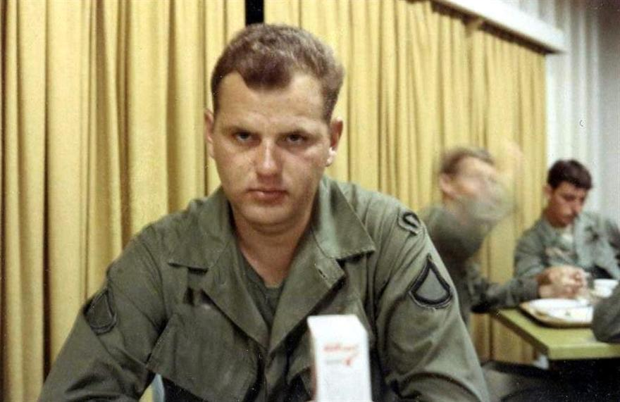 Tom Having Lunch At The Bien Hoa Air Base Mess Hall
