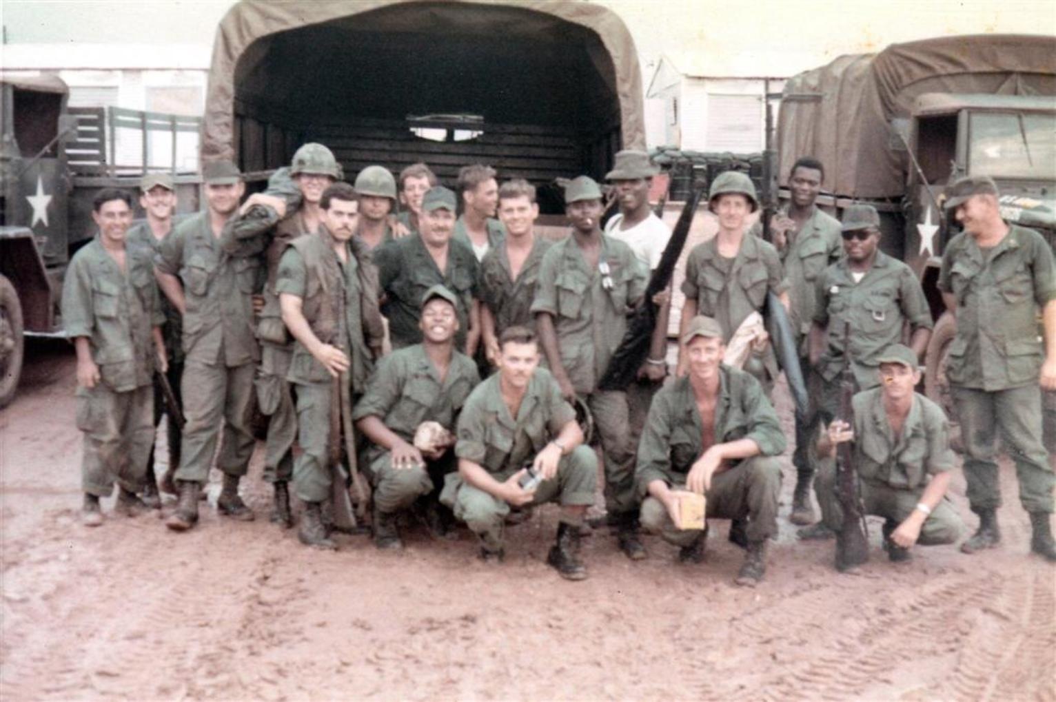 Our Platoon Just Back From The Binh Hoa Barge Site - Camp Camelot