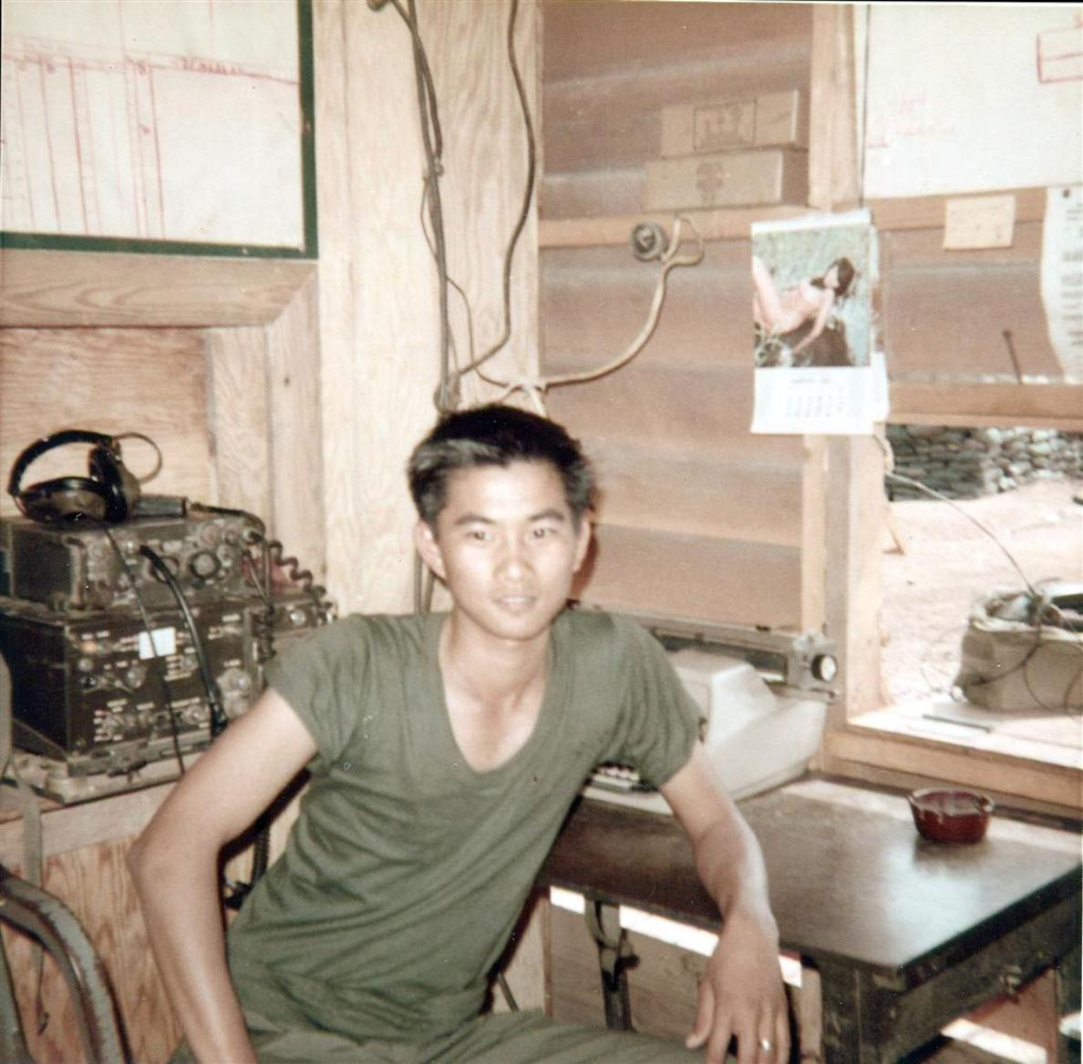 Wilfred Working At The Binh Hoa Barge Site