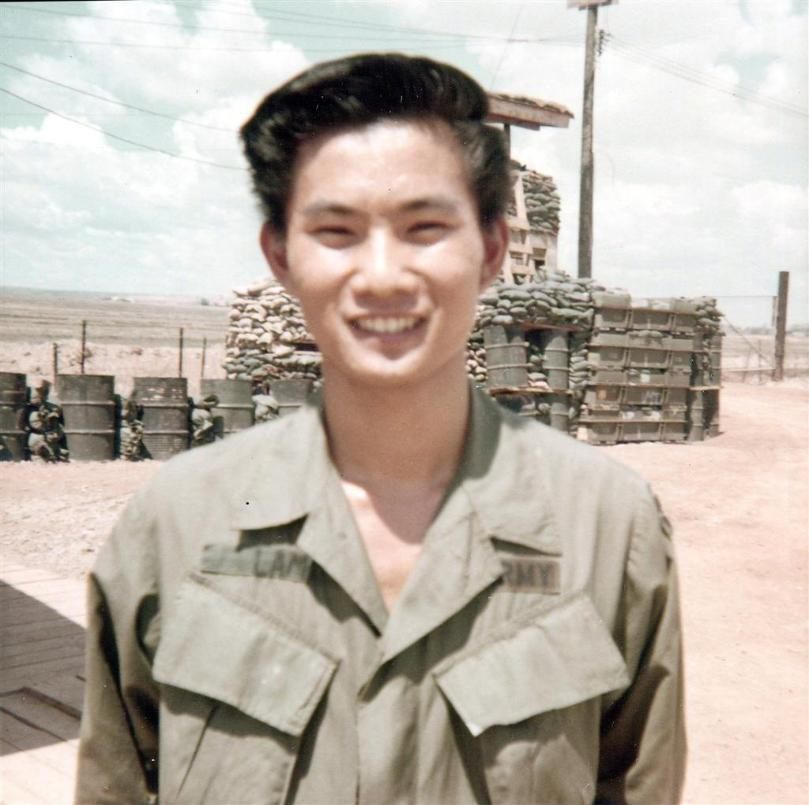 Wilfred Lam At The Binh Hoa Barge Site - 1969