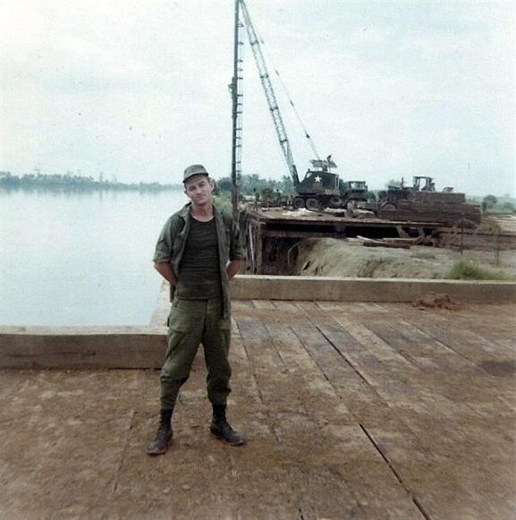 Wiley Allred At The Bien Hoa barge site