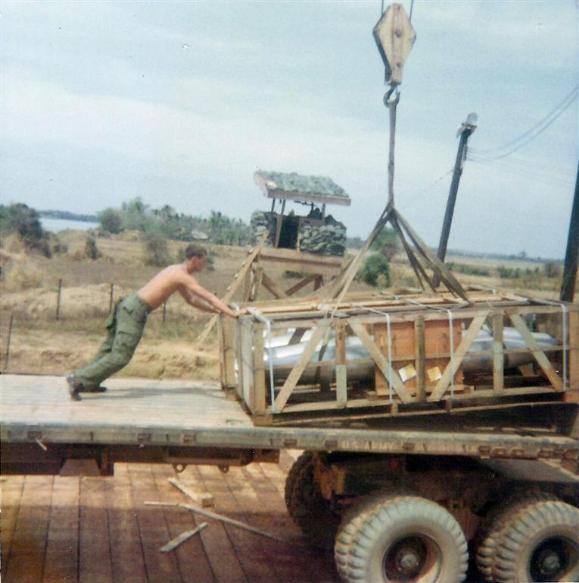 Loading Napalm On Trucks