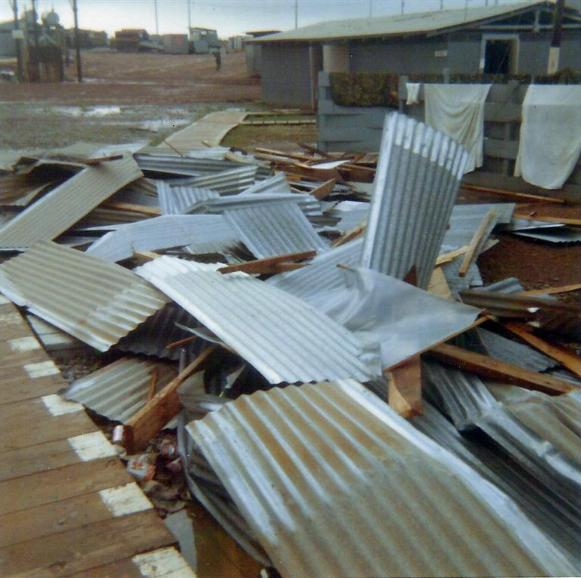 What Was Left Of Our Theater Roof After A Storm In 1970