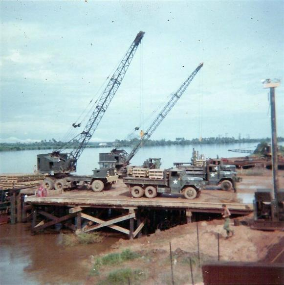 Trucks Being Loaded At Binh Hoa Site